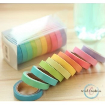 lot de 10 Washi tape fins -...