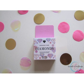 Washi Tape Diamant rose