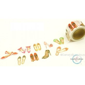 "Large Washi Tape ""Chaussures"""