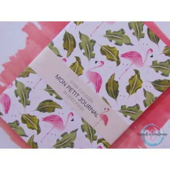 Petit carnet flamand rose - A6