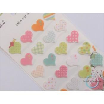 Planche Stickers : Coeur