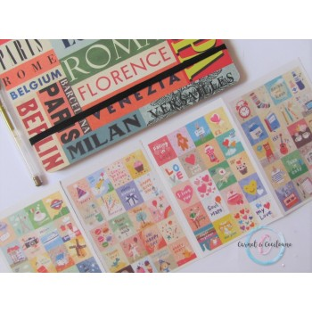 Planche Stickers : Timbres...